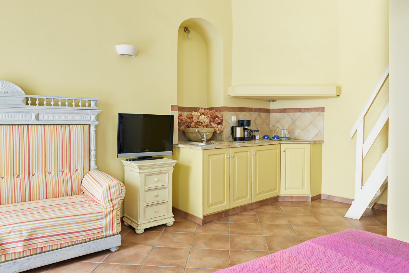 Blue and Yellow Mezzanine Studio – Accommodation – Lila Guesthouse ...